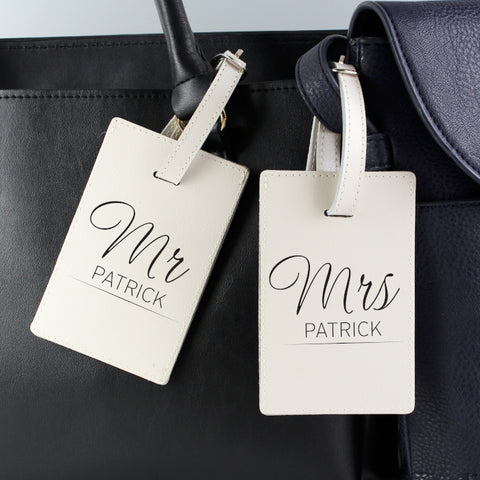 Personalised Mr & Mrs Luggage Tags | ShaneToddGifts.co.uk