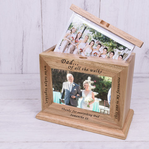 Wooden Photo Album - Dad...Of all the walks