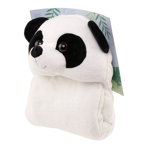 Plush Pandarama Wearable Blanket