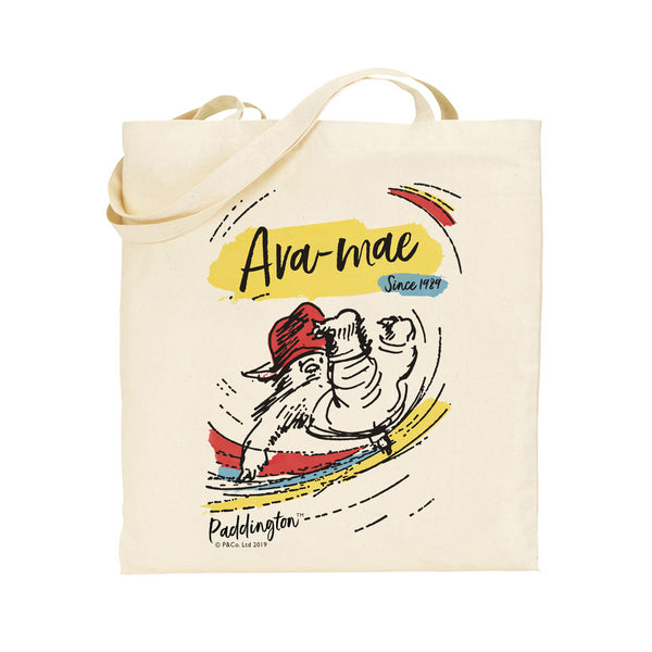Personalised Paddington Bear Since Tote Bag