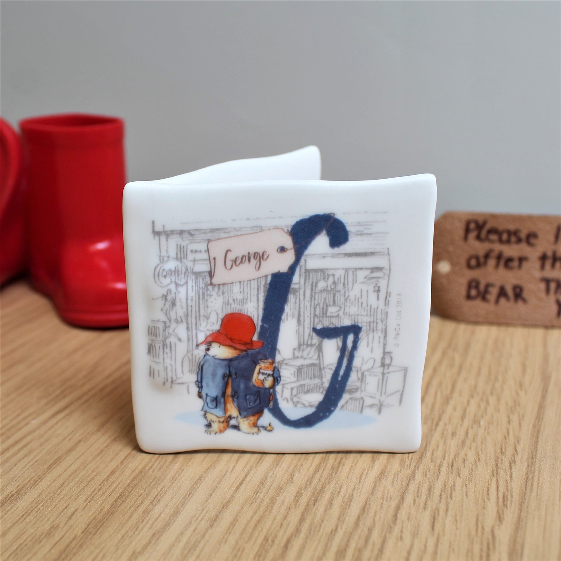 Personalised Paddington Bear Initial Message Card, Arts & Entertainment by Gifts24-7