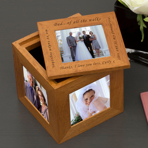 Oak Photo Cube Of all the walks.. | ShaneToddGifts.co.uk