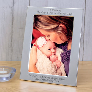 7x5 / 5x7 Silver Plated Frame First Mother's Day | Gifts24-7.co.uk