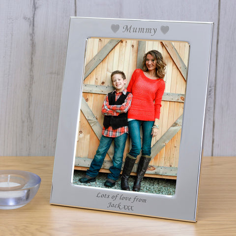 6x4 / 4x6  Silver Plated Frame MUMMY | Gifts24-7.co.uk