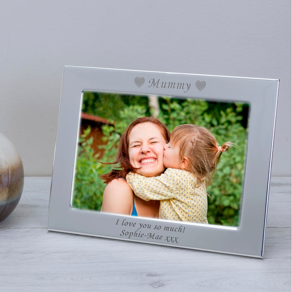 7x5 / 5x7 Silver Plated Frame MUMMY | Gifts24-7.co.uk