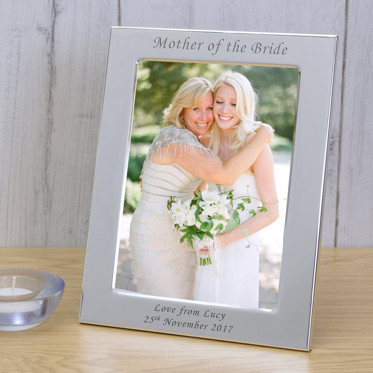 7x5 Personalised Silver Plated Frame Mother of the Bride - Gifts24-7.co.uk