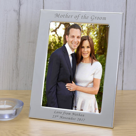 6X4 Silver Plated Frame Mother of the Groom | Gifts24-7.co.uk
