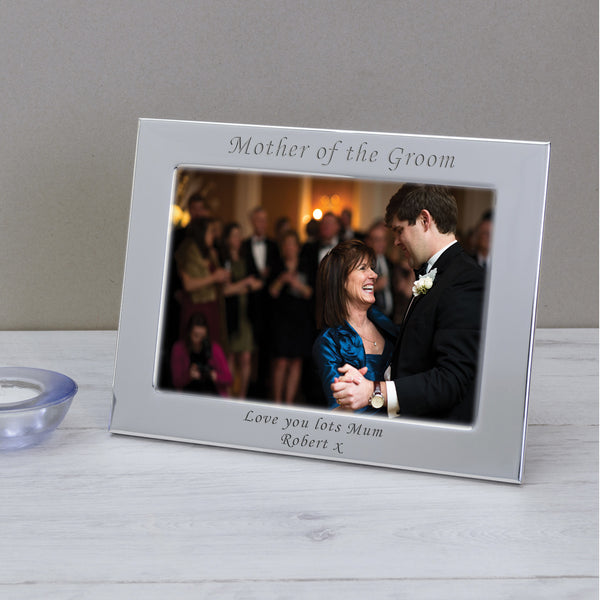 7x5 Personalised Silver Plated Frame Mother of the Groom - Gifts24-7.co.uk