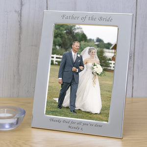 7x5 Personalised Silver Plated Frame Father of the Bride - Gifts24-7.co.uk