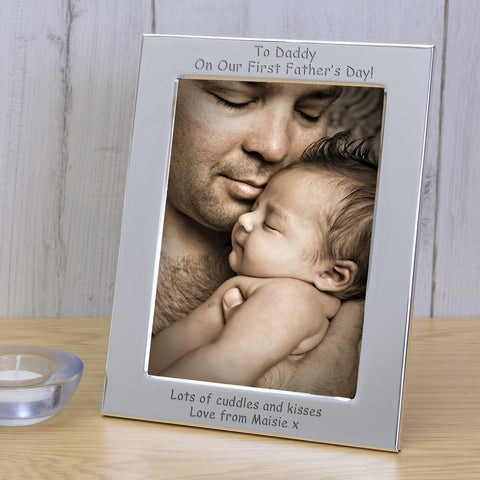 Silver Plated Frame To Daddy On... - Shane Todd Gifts UK