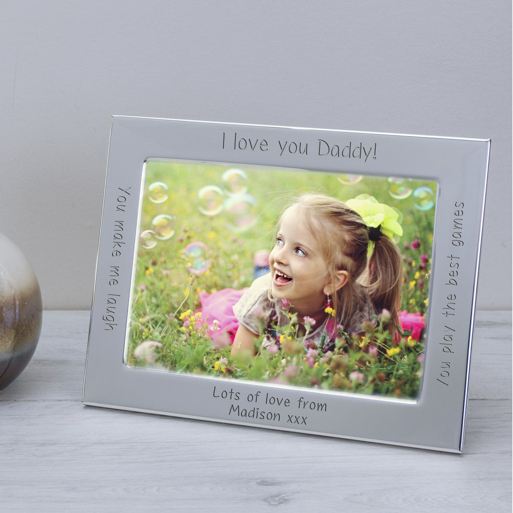 Silver Plated Frame I or We love... | Gifts24-7.co.uk