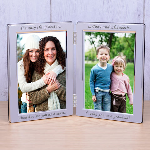 6X4 Silver Plated Double Frame - The only... | Gifts24-7.co.uk
