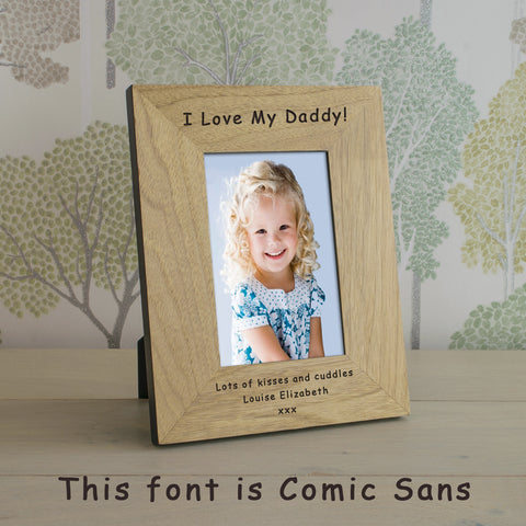 Any Message Wood Photo Frame 7x5 | Gifts24-7.co.uk