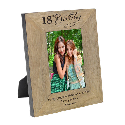 Birthday Wood Frame 6x4 Portrait or landscape - Gifts24-7.co.uk