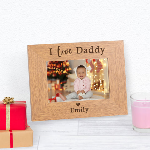 Personalised I / We Love... Wooden Frame