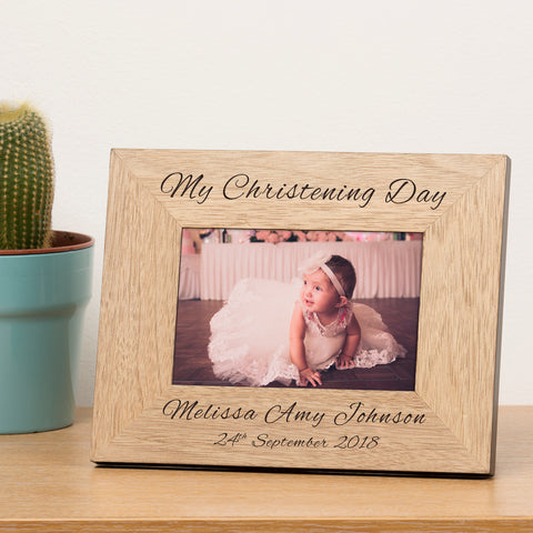 Personalised My Christening Day Wooden Frame 6x4