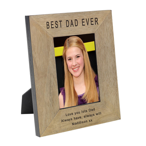 Best Dad Ever Wood Frame 6x4 - Shane Todd Gifts UK