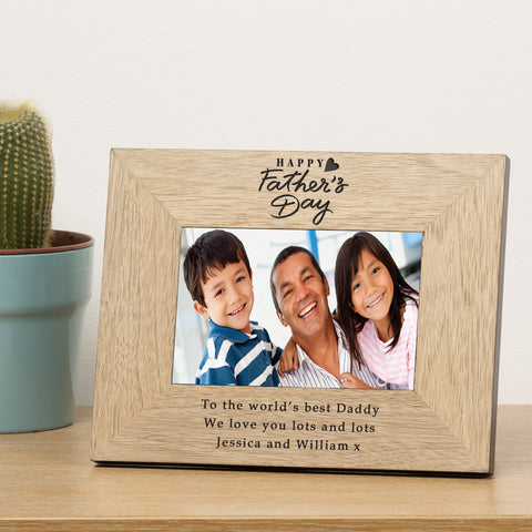 Fathers Day Wood Frame 6x4 - Shane Todd Gifts UK