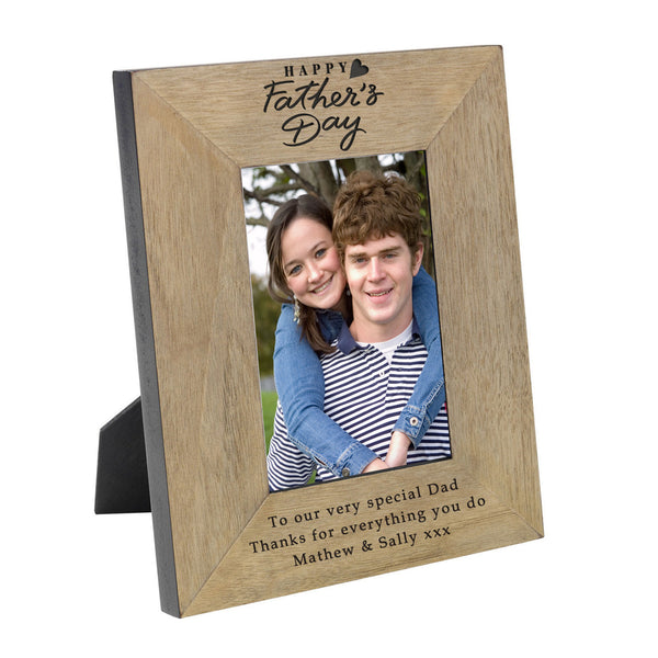 Fathers Day Wood Frame 6x4 - Gifts24-7.co.uk