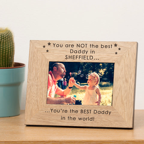 Personalised You are NOT the best.. Wood Frame 6x4