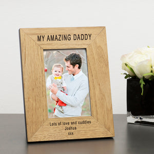 AMAZING DADDY Wooden Frame 6x4 & 4x6