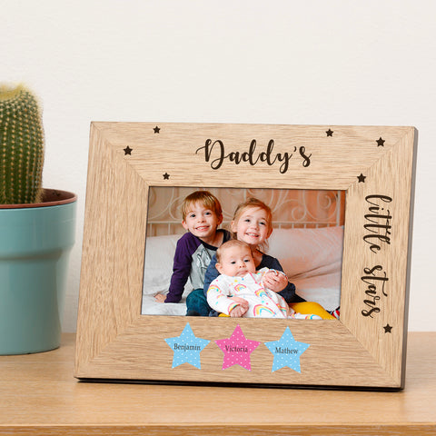 Personalised Little Star(s) Wood Frame 6x4