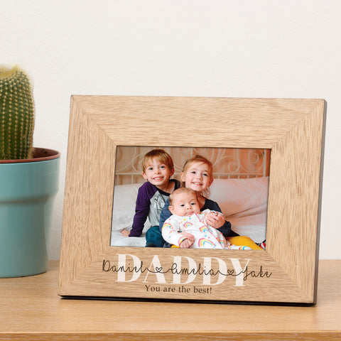 Personalised Names... Wood Frame 6x4