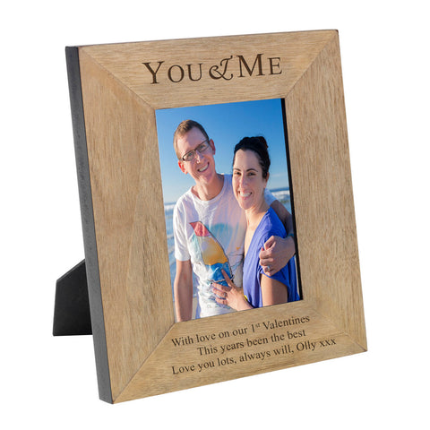 You & Me Wooden Frame 6x4 & 4x6