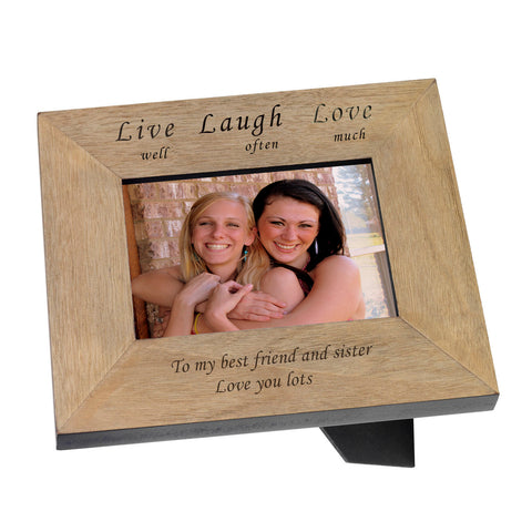 Live well Love often Love much Wooden Frame 6x4 | Gifts24-7.co.uk