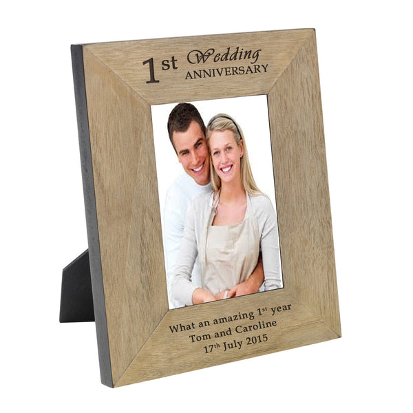Anniversary Wood Frame - 6x4 - Gifts24-7.co.uk