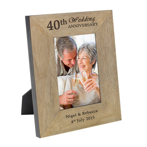 Anniversary Wood Frame - 6x4 - Shane Todd Gifts UK