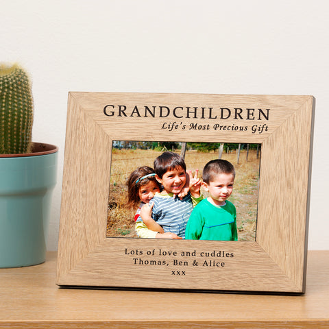GRANDCHILDREN Wooden Frame 6x4