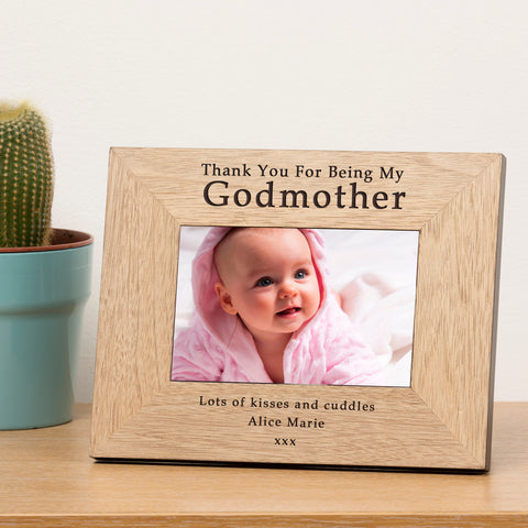 Godmother Wooden Frame 4x6 & 6x4 | Gifts24-7.co.uk