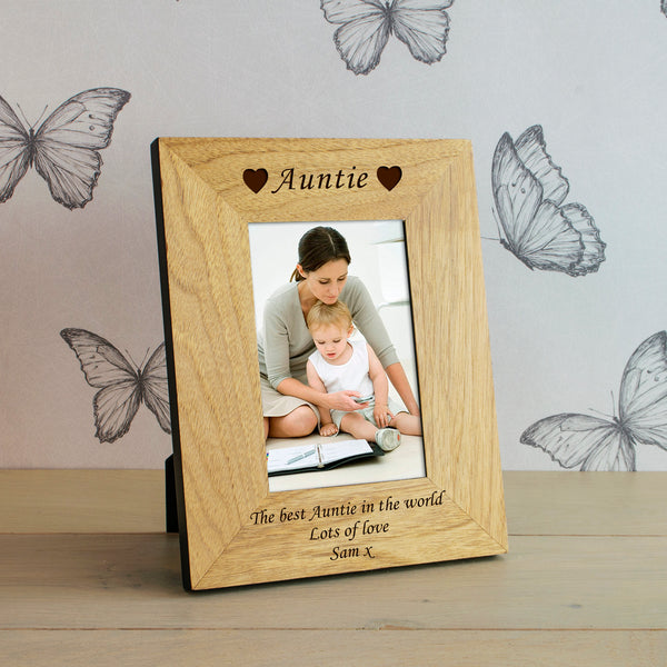 Personalised Name Wooden Frame 6x4