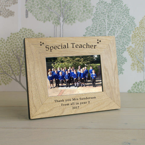 Special Teacher Wooden Frame 4x6 & 6x4 | Gifts24-7.co.uk