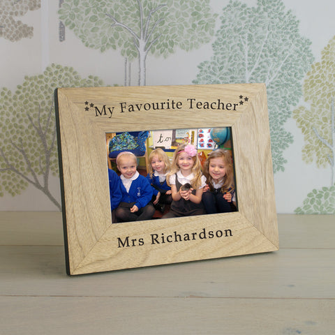 My Favourite Teacher Wood Frame 6x4 - Gifts24-7.co.uk