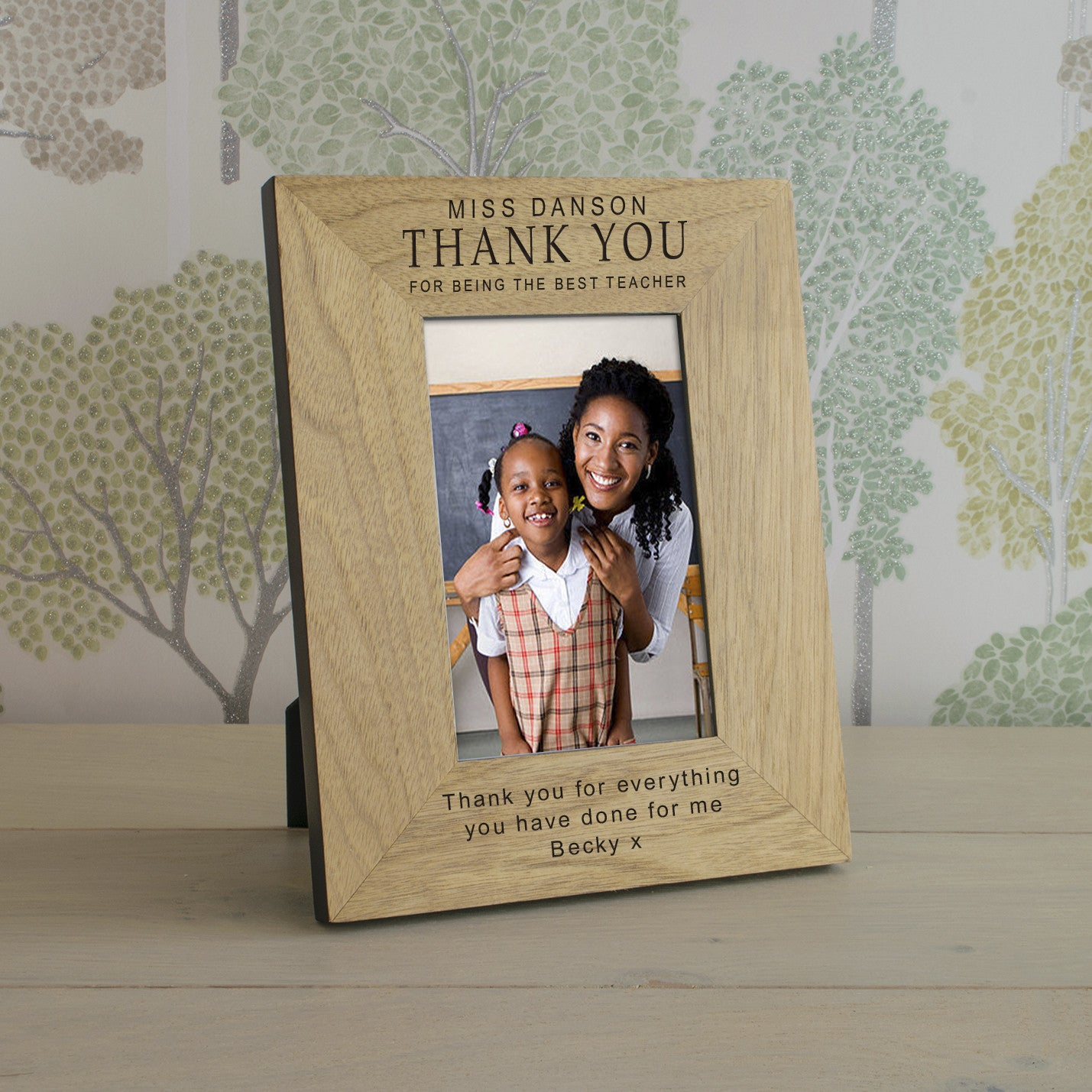 Thank You Teacher Wooden Frame 4x6 & 6x4, Home & Garden by Low Cost Gifts