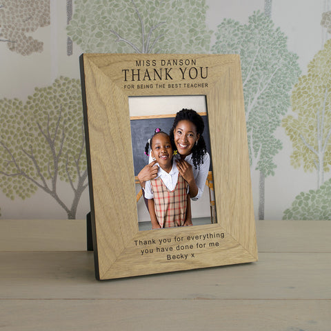 Thank You Teacher Wooden Frame 4x6 & 6x4 | Gifts24-7.co.uk