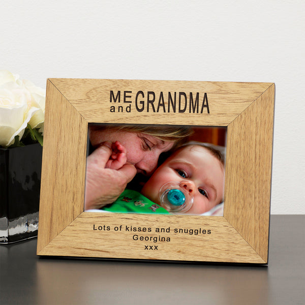 Personalised 6x4 / 4x6 Me and ...  Wooden Frame