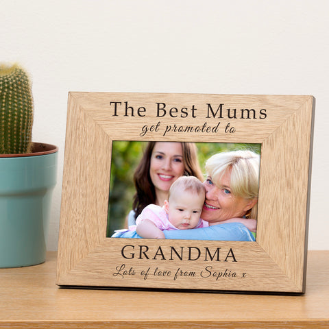 Personalised 6x4 The Best Mums get promoted to... Wooden Frame