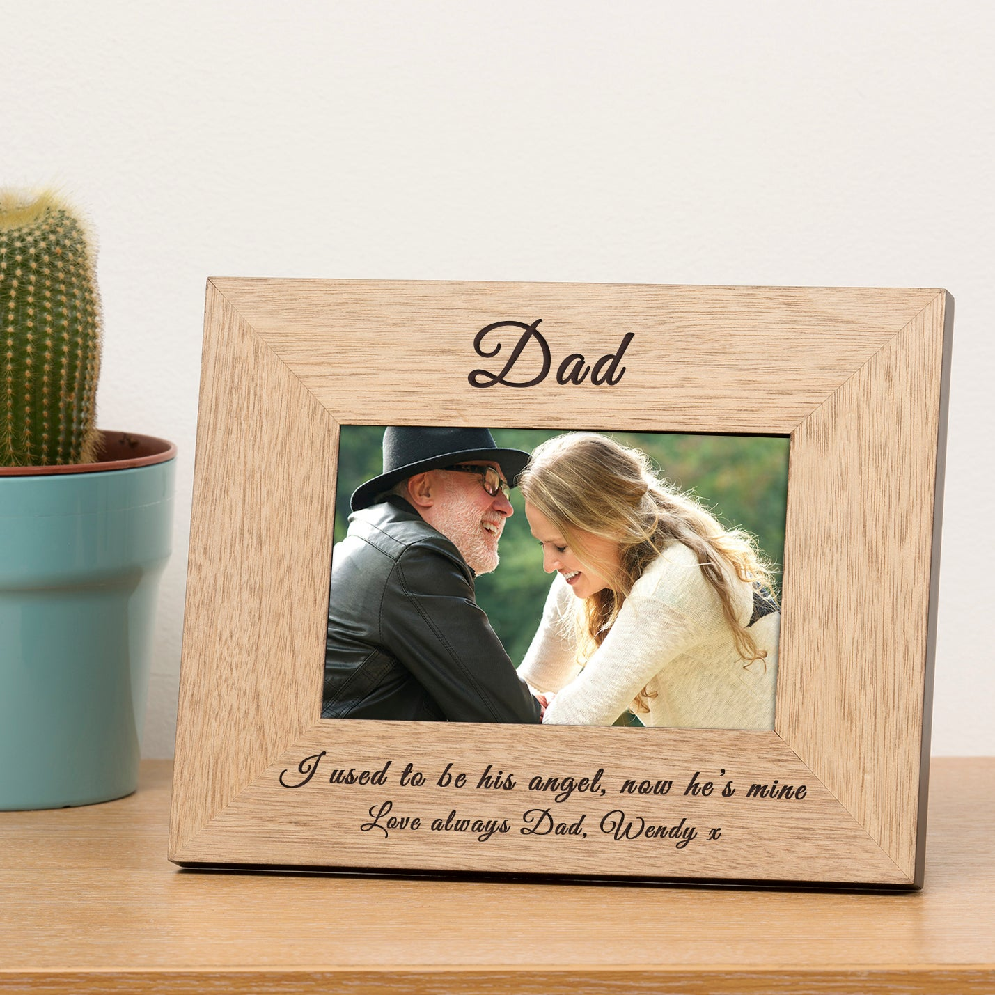 Daddy's Girl Memorial Wooden Photo Frame 7x5