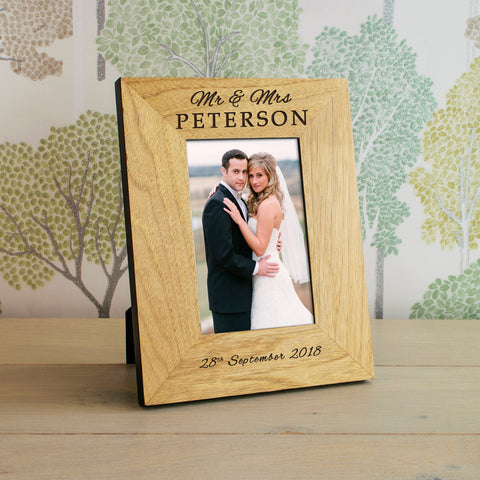 Wedding Wooden Frame 6x4 / 4x6 | ShaneToddGifts.co.uk