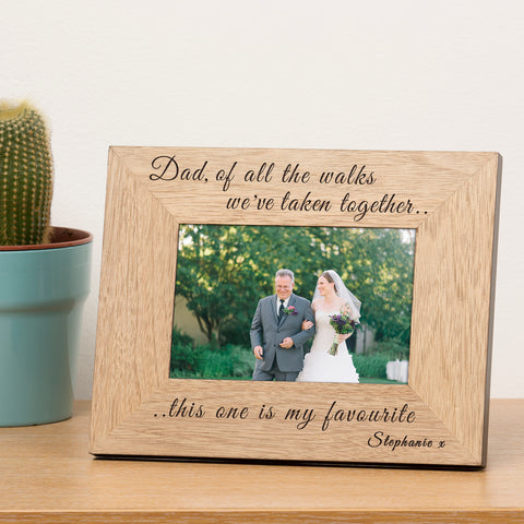 Dad of all the walks Wooden Frame - 6x4 / 4x6 | ShaneToddGifts.co.uk