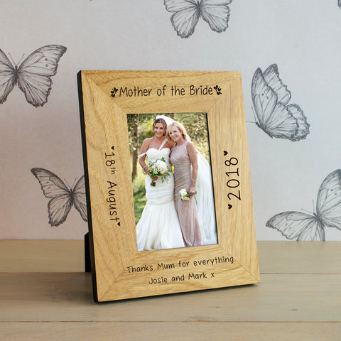 Wedding Party Role Wooden Frame 6x4 / 4x6 | Gifts24-7.co.uk