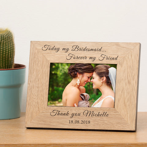 Bridesmaid Wooden Frame 6x4 | Gifts24-7.co.uk