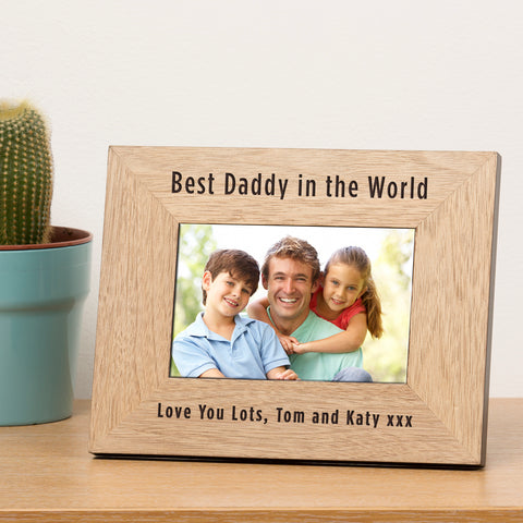 Wooden Frame 7x5 - Best ... in the World | Gifts24-7.co.uk