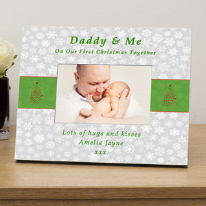 ..... & Me 1st Xmas together personalised photo frame - Gifts24-7.co.uk
