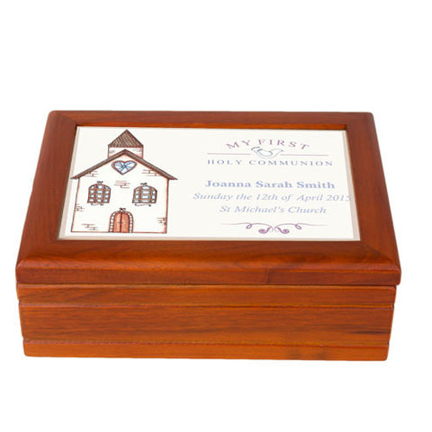 Church First Holy Communion Jewellery Box | ShaneToddGifts.co.uk