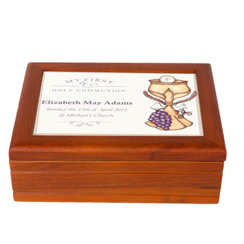 Eucharist First Holy Communion Jewellery Box | ShaneToddGifts.co.uk