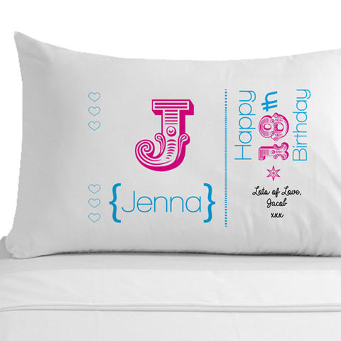 Personalised 18th Birthday Pillowcase - Shane Todd Gifts UK